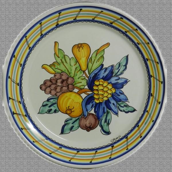 Plato flores y frutas